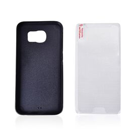 (Option 4) Antigravity Samsung Phone Cover Black and Toughened Membrane (Size 14.5x7 Cm)