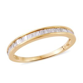 Diamond (Bgt) Half Eternity Ring in 14K Gold Overlay Sterling Silver 0.331 Ct.