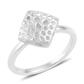 RACHEL GALLEY Rhodium Plated Sterling Silver Memento Diamond Ring