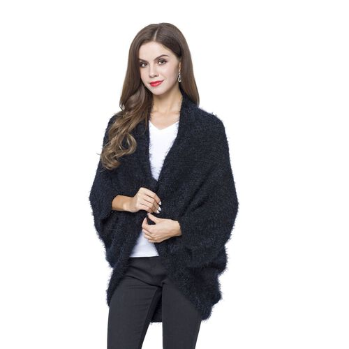 Designer Inspired-Black Colour Cardigan (Size 108x48 Cm)