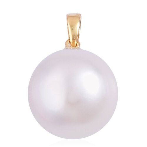 Collectors Edition - ILIANA 18K Y Gold AAAA Very Rare Top Lustre South Sea White Pearl (Rnd 12-13 mm) Pendant