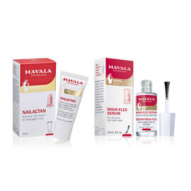 MAVALA- Flaking/Dry Nails Kit :- 10ml Mava Flex, 15ml Nail Actan with a free file , cuticle stick and a free 5ml Mini Polish- Estimated delivery within 5-7 working days