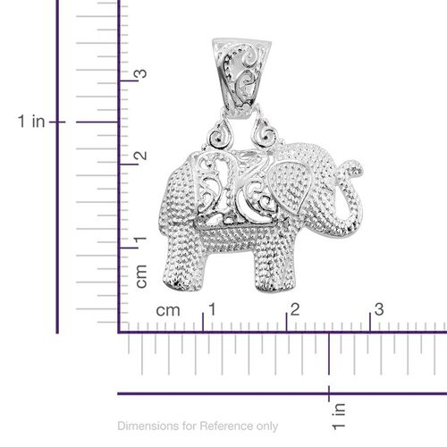Sterling Silver Elephant Pendant, Silver wt 3.61 Gms.