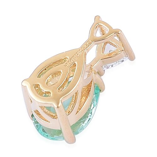 ILIANA 18K Yellow Gold 1.25 Ct AAA Boyaca Colombian Emerald Pendant with Diamond SI G-H