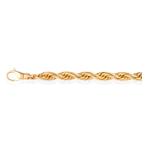 Vicenza Collection 9K Yellow Gold Rope Bracelet (Size 8.25), Gold wt 14.60 Gms.