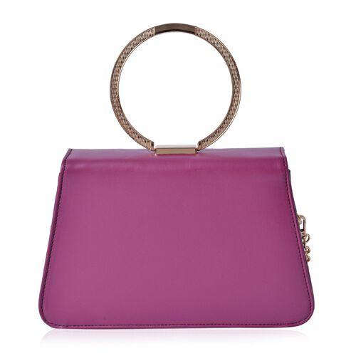 Eddie Dark Fuchsia Colour Tote Bag with Shoulder Strap (Size 26x17x6 Cm)