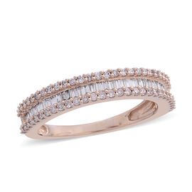 ILIANA 18K Rose Gold Natural Pink Diamond (Bgt) (SI) Ring 0.500 Ct.