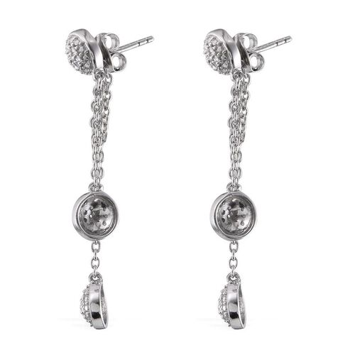 Diamond (Rnd) Earrings (with Push Back) in Platinum Overlay Sterling Silver 0.200 Ct.