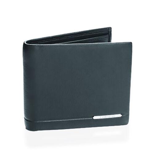 Close Out Deal - CERRUTI 1881 London Genuine Leather Black Colour Wallet (Size 11.5x9.5 Cm)