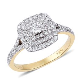 ILIANA 18K Yellow Gold IGI Certified 0.75 Ct Diamond SI G-H Ring
