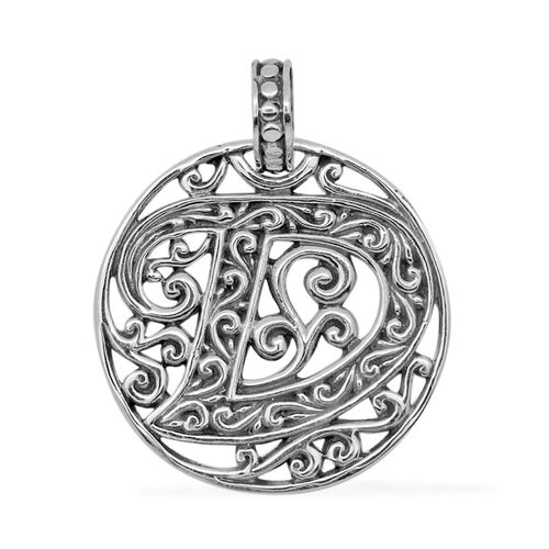 Royal Bali Collection Sterling Silver Initial D Pendant, Silver wt 4.20 Gms.