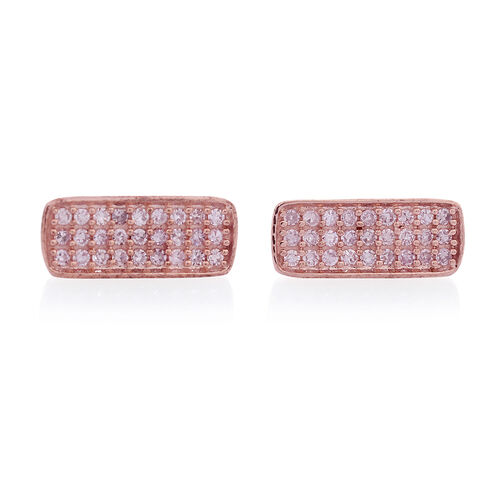 Limited Edition- 9K Rose Gold Natural Pink Diamond (Rnd)  Earrings (with Push Back) 0.330 Ct.
