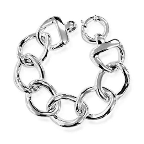 Designer Inspired Thai Sterling Silver Curb Bracelet (Size 8), Silver wt 28.00 Gms.