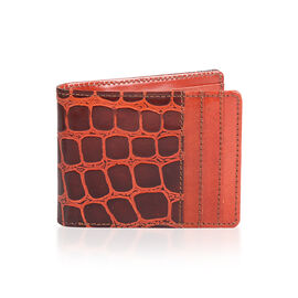 100% Genuine Leather Red and Purple Colour Bi-Fold Mens Wallet (Size 12x9 Cm)