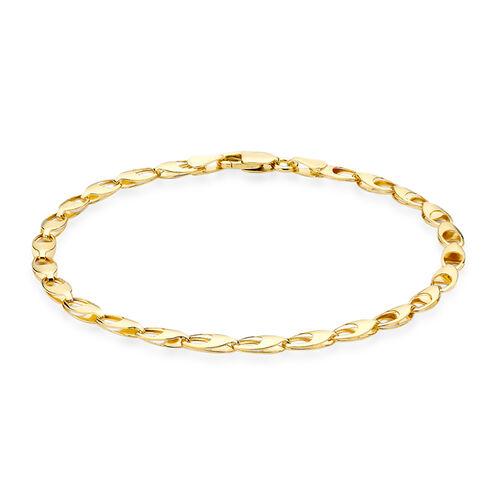 JCK Vegas Collection 9K Yellow Gold Oval Link Bracelet (Size 7), Gold wt 2.70 Gms.
