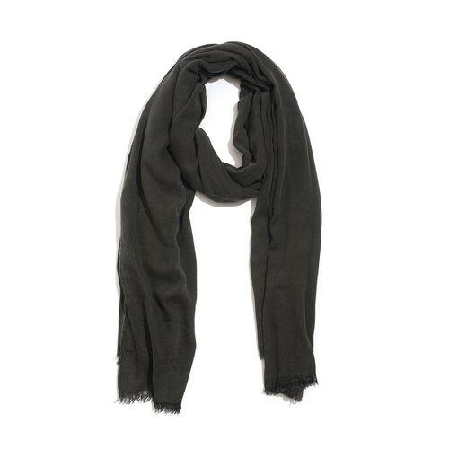 100% Rayon Pareo - Dark Charcoal Colour (Size 190x120 Cm)