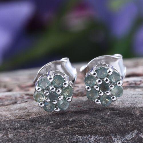 9K W Gold Narsipatnam Alexandrite (Rnd) Floral Stud Earrings (with Push Back) 0.500 Ct.