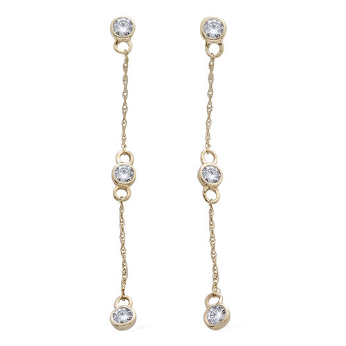 9K Y Gold SGL Certified Diamond (Rnd) (I3/ G-H) Constellation Earrings (with Push Back) 0.500 Ct.