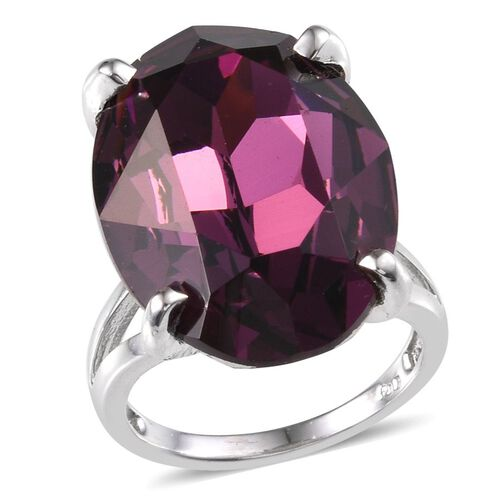 Karis Swarovski Amethyst Crystal (25.50 Ct) Brass Ring  25.500  Ct.