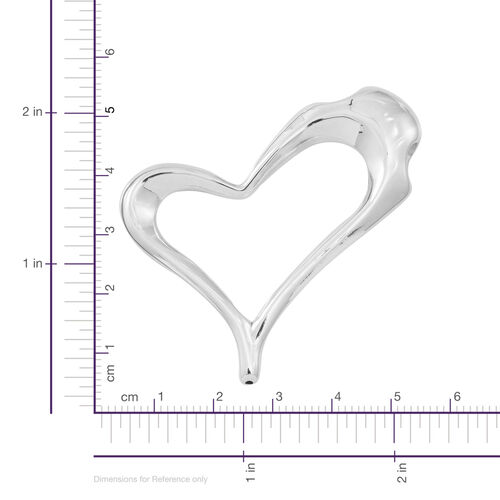 Vicenza Collection Sterling Silver Heart Pendant, Silver wt. 5.60 Gms.