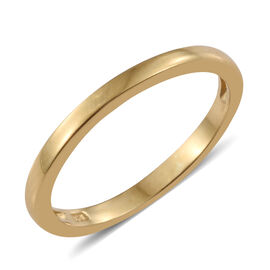 Stacker Plain Band Silver Ring in Gold Overlay