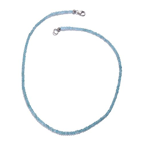 Paraiba Apatite (Rnd) Necklace (Size 18) in Platinum Overlay Sterling Silver 36.140 Ct.