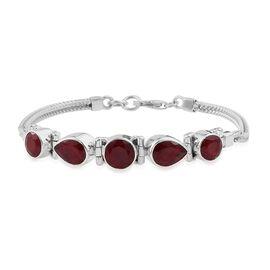 Corundum Ruby Bracelet (Size 7.5) in Sterling Silver 11.710 Ct. Silver wt 11.84 Gms.