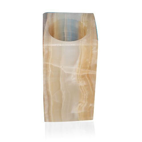 Tucson Collection Home Decor - Prism Shape Onyx Candle Holder