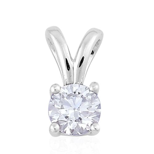 ILIANA 18K White Gold IGI Certified Diamond (Rnd) (SI/G-H) Solitaire Pendant 0.250 Ct.
