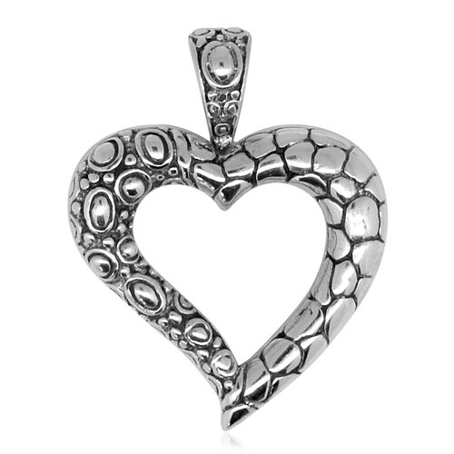 Vicenza Collection Sterling Silver Heart Pendant, Silver wt. 5.01 Gms.