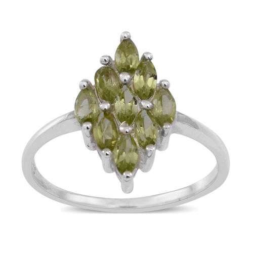 Hebei Peridot (Mrq) Ring in Sterling Silver 1.750 Ct.