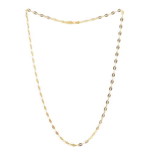 14K Gold Overlay Sterling Silver Mariner Chain (Size 20), Silver wt 4.70 Gms.