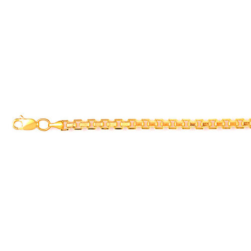 Vicenza Collection 9K Yellow Gold Box Necklace (Size 22), Gold wt 14.24 Gms.
