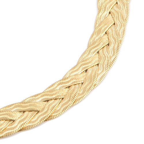 Vicenza Collection Yellow Gold Overlay Sterling Silver Necklace (Size 18 with 3 inch Extender), Silver wt 17.88 Gms.