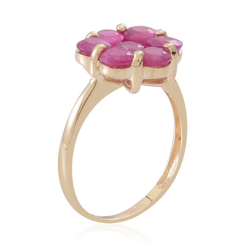 Burmese Ruby (2.50 Ct) 9K Y Gold Ring  2.500  Ct.