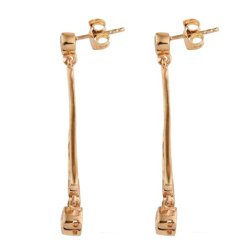 Marialite (Rnd) Earrings (with Push Back) in 14K Gold Overlay Sterling Silver 0.750 Ct.