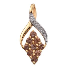 Brazilian Andalusite (Rnd) Pendant in 14K Gold Overlay Sterling Silver 0.900 Ct.