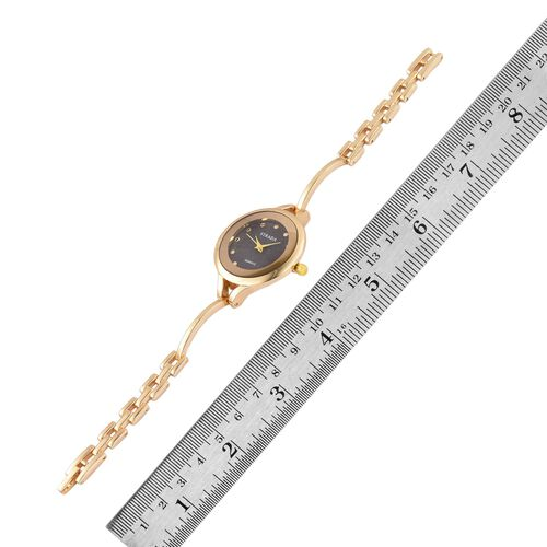 STRADA Japanese Movement Water Resistant Gold Tone Watch