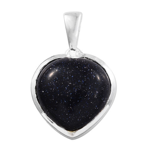 Blue Sandstone (Hrt) Pendant in Sterling Silver 10.500 Ct.