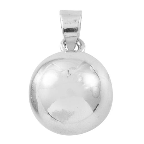 Vicenza Collection Sterling Silver Ball Pendant, Silver wt. 5.30 Gms.
