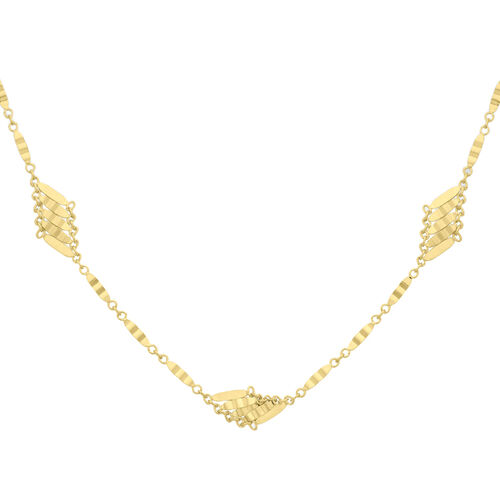 Vicenza Collection- 9K Y Gold Diamond Cut Links Chain Necklace (Size 20), Gold wt 5.15 Gms.