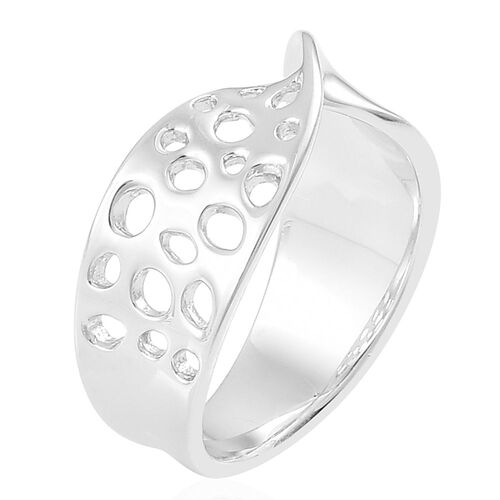 RACHEL GALLEY Rhodium Plated Sterling Silver Lattice Ring, Silver wt. 4.88 Gms.