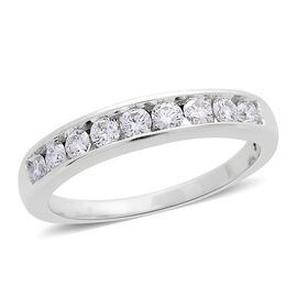 ILIANA 18K White Gold IGI Certified Diamond (Rnd) (SI G-H Half Eternity Ring 0.500 Ct.