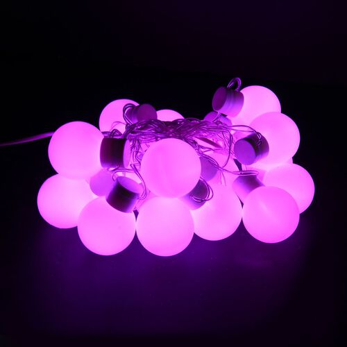 Pink LED Balls Light String (Size 5 meters)