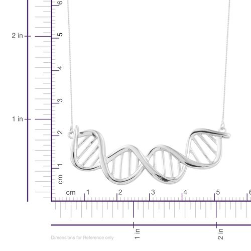 Science Jewellery - DNA Chromosomes Silver Necklace in Platinum Overlay(Size 18), Silver wt 7.00 Gms.
