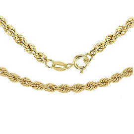 9K Yellow Gold Rope Chain (Size 22).