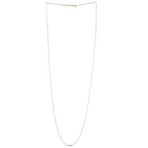 JCK Vegas Collection 14K Gold Overlay Sterling Silver Flat Marina Chain (Size 36), Silver wt 3.50 Gms.