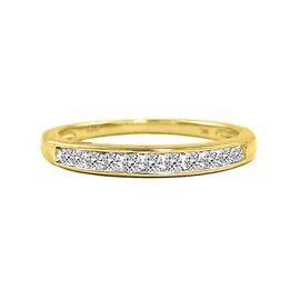 BRILLIANT CUT 9K Y Gold Diamond (Rnd) (I3/G-H) Half Eternity Ring 0.250 Ct.
