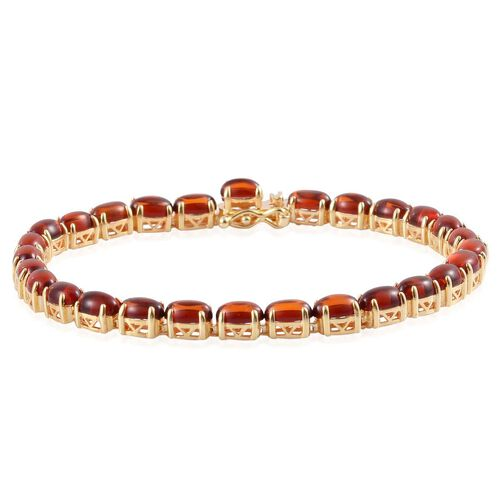 Baltic Amber (Ovl) Bracelet in Yellow Gold Overlay Sterling Silver (Size 7.5) 5.750 Ct.