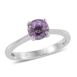 RHAPSODY 950 Platinum AAAA Brazilian Kunzite (Rnd) Solitaire Ring 1.250 Ct.